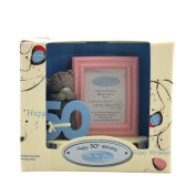 50th Birthday Me to You Bear Frame with Figurine