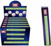 M.Y. Table Tennis Balls - Pack of 6 Balls
