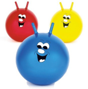 50cm Jump n Bounce Space Hopper Retro Ball Outdoor Toy Blue Red or Yellow