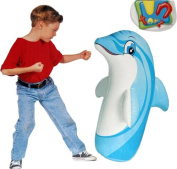 Intex Childrens Dolphin Inflatable 3D 97cm Boxing Bop Punch Bags Indoor Outdoor Game