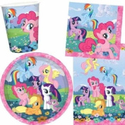 My Little Pony Party Pack for 8 - 8 cups, 8 plates, 16 napkins 1 tablecover