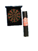 Roll up magnetic dart board