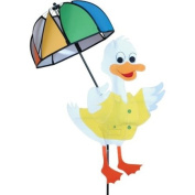 Premier Kites Party Animal Wind Spinner - White Duck With Umbrella