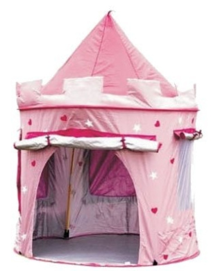 puregadgets fairy princess tale castle pop up children 39 s tent with windows and roll up door. Black Bedroom Furniture Sets. Home Design Ideas