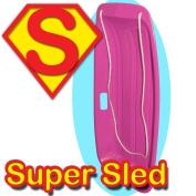 Snow Speeder Plastic Sled - Super Sledge - Pink