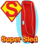 Snow Speeder Plastic Sled - Super Sledge - Red