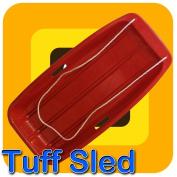 Snow Speeder Plastic Sled - Tuff Sledge - Red