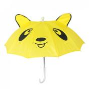 Children Panda Pattern Mini Yellow Umbrella Playing Toy