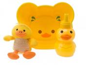 J.I.P Bath Set Funny Duck, PVC Yellow