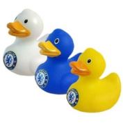 Official Chelsea FC Mini Bath Time Duck Set (3 Pack) - A great gift / present for babies, toddlers for Christmas, Birthdays, Christenings or just as a treat for and avid football fan