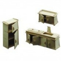 Dolls House Wooden Kitchen Furniture Kit 1/12 scale Age 6+