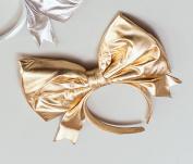 Giant Bow on Headband - Gold