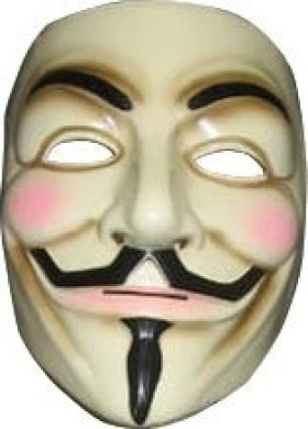 Fancy Dress Accessories - Official Licenced V For Vendetta Mask With String (One Size Fits All)