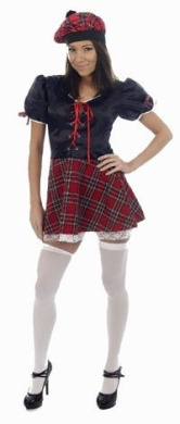 Sexy Tartan Female Adult Costume Size Small