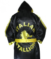 Rocky Balboa Black and Gold Boxing Robe One Size Fits All