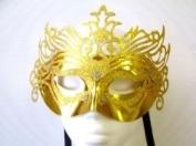 Novelties Direct Gold Ornate Mask With Silver studs