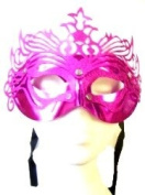 Novelties Direct Hot Pink/Purple Ornate Mask With Silver Studs