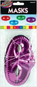 Half Masks 12/Pkg-Assorted Metallic Colours