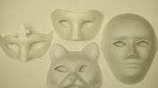 4 FACE MASKS, PAINT MASK DECORATE PLAIN MASK.CAT,FULL MASK,HALF MASK,CROWN MASK.