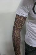 Fake Tattoo Sleeve - Tribal Design