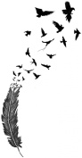 Birds of a Feather temporary tattoo