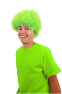 Elope Fuzzy Wig, Lime, One Size
