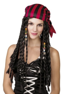 Pirate Brown wig with headband