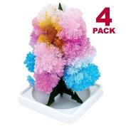 Magic Growing Crystal Tree 4 Pack