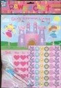 NEW CHILDRENS PRINCESS REWARD CHART with WIPE CLEAN BOARD, PEN & STICKERS. FUN!
