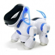I Dog Robot - Walking, Nodding + Swinging Tail with Flashing Lights + Sound