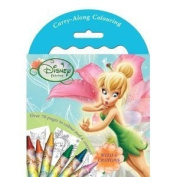Disney Fairies (Tinkerbell) Carry Along Colouring Set , 70 Pages plus Crayons