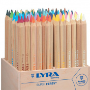 Lyra Super Ferby 3712960 Coloured Pencil in Natural Wooden Box 96 Pencils
