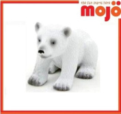 MOJO POLAR BEAR CUB PAINTED REPLICA WILD ANIMAL COLLECTABLE TOY FIGURES 387021