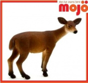 MOJO DEER DOE HAND PAINTED REPLICA WILD ANIMAL COLLECTABLE TOY FIGURES 387037