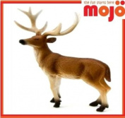 MOJO DEER STAG PAINTED REPLICA WILD ANIMAL COLLECTABLE TOY FIGURES 387038