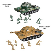 """Combat Mission"" Boys Friction Powered Army Tank & Soldiers Military Playset"