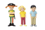 Micki Pippi Pirate Pippi Tommy and Annika Figures