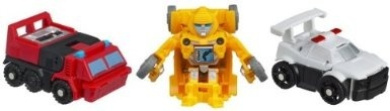 TRANSFORMERS BOT SHOTS BATTLE GAME SERIES 1 SENTINEL PRIME PROWL BUMBLEBEE NEW