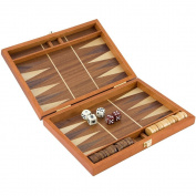 25cm Maghogany Travel Backgammon Set