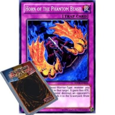 YuGiOh : SDOK-EN034 1st Ed Horn of the Phantom Beast Common Card - ( Onslaught of the Fire Kings Yu-Gi-Oh! Single Card )
