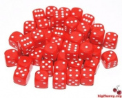 Big Cherry Dice, 50 x 12mm Round Corner Spot - Red
