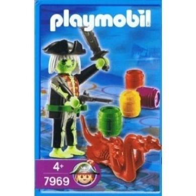 Playmobil Pirate treasure map game figure