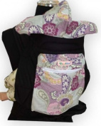 Palm and Pond Mei Tai With Hood And Pocket - Purple Paisley