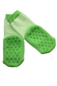 Weri Spezials ABS Baby Socks. Double sided ABS, Green