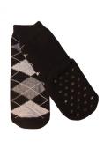 Weri Spezials Children High ABS terry sole Socks. Rhombuses, Black