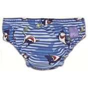 Bambino Mio Swim Nappy Blue Shark Small 5-7kgs