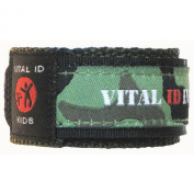 Child ID Safety Wristband. Store Your Contact Info plus Your Child's Allergy and Medication Information. Updateable. Waterproof. Adjustable. Robust. Winning Child Identity Bracelet Design from Vital ID. Assorted Colours.