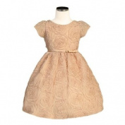 Sweet Kids Baby Toddler Little Girls Champagne Rose Easter Dress 6M-12