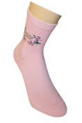 "Weri Spezials Socks for Girls, Pink, ""Patterns and Flowers"""