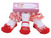 Baby Emporio - RED - Mary Jane Party Socks - 0-9 Months - Gift Box